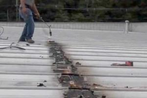 metal Roof Seam Repair on a leaky roof