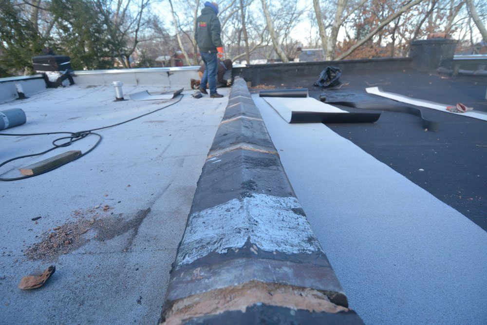 Parapet Wall prepared for rubber membrane cover - Queens NY