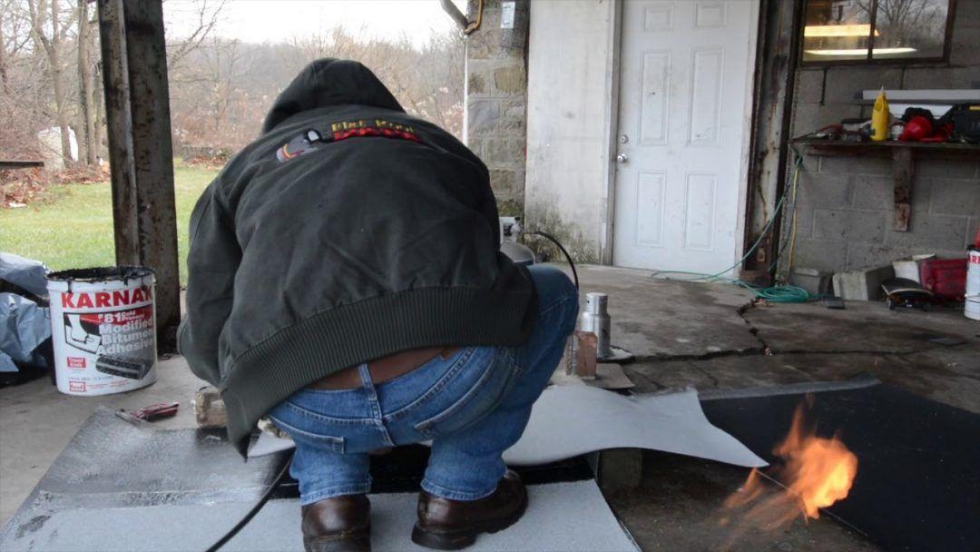 Video - Repairing Torch Down Rubber Membrane Roof