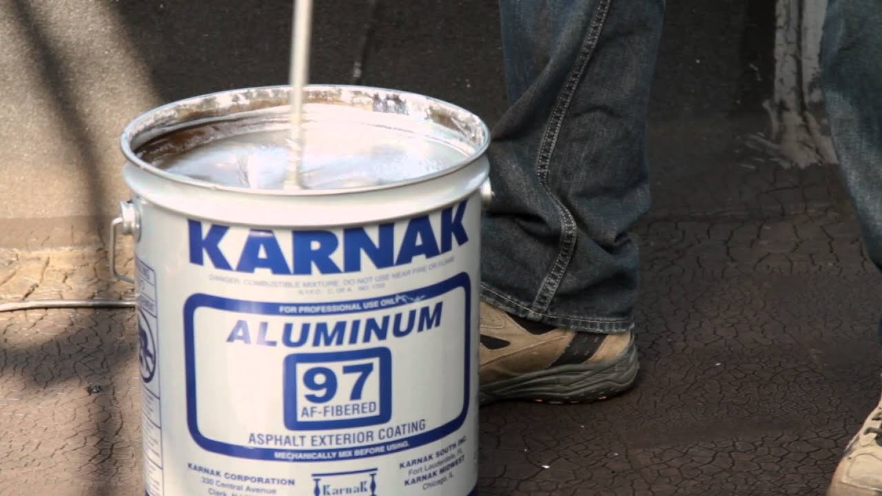 Aluminum Asphalt Coating or Silver Paint