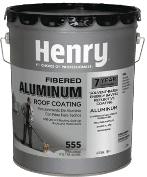 Henry-Fibered-Aluminum-Paint or Silver Coating can be bought at Home Depot
