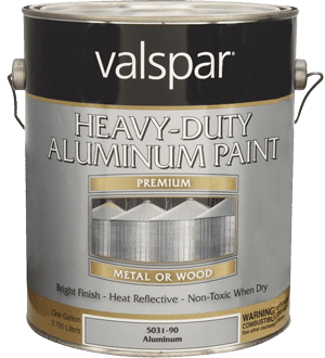 Valspar Heavy-Duty Aluminum Paint