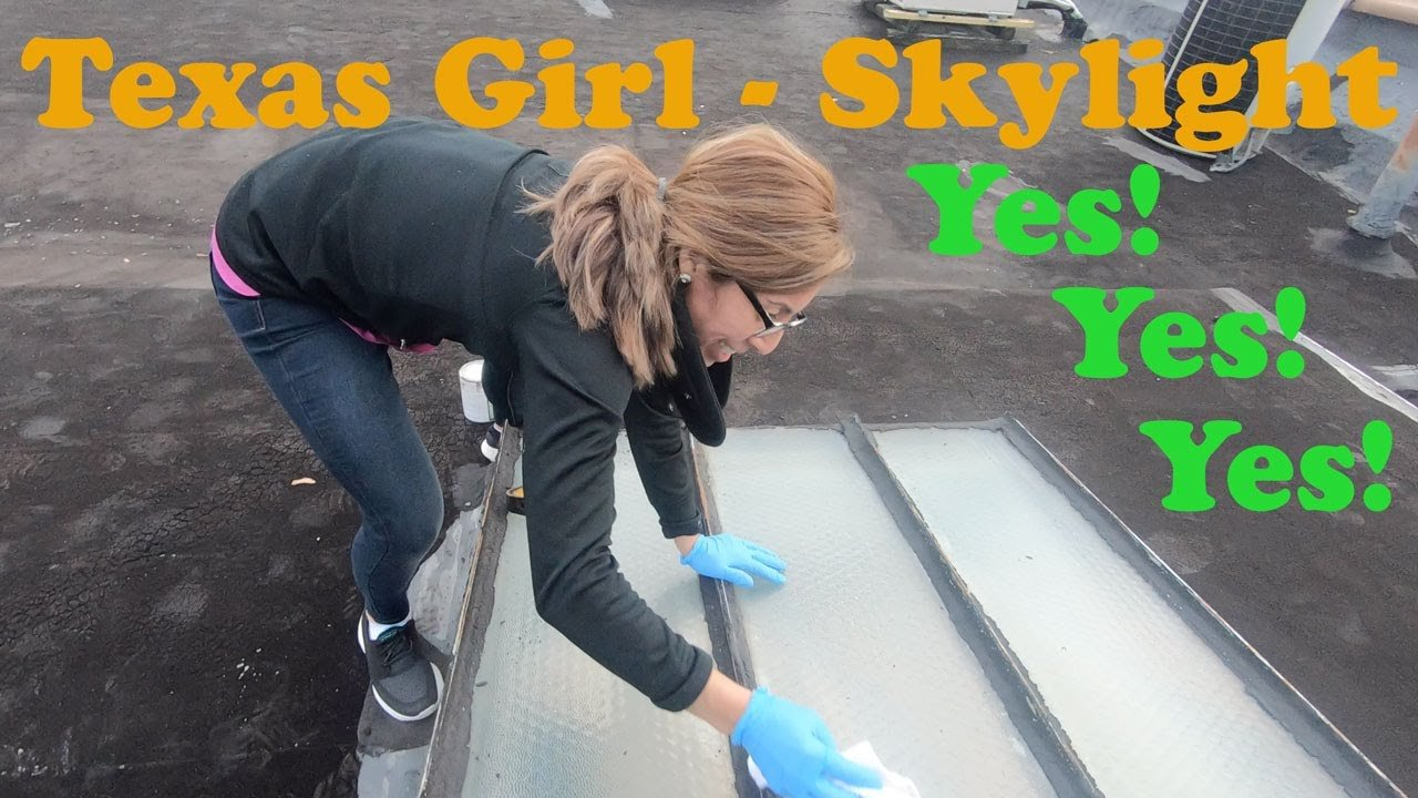 Skylight Repair on metal roofs