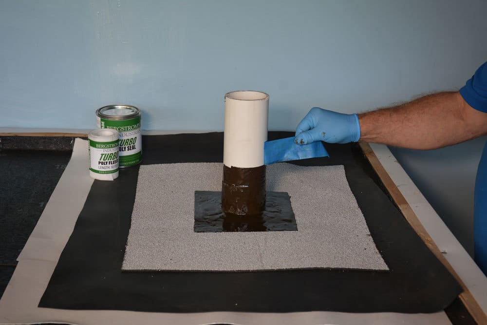 Remove masking tape from Turbo Poly Seal before drying