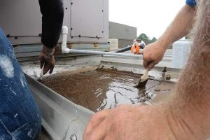 Repairing a metal roof with Turbo Poly Seal