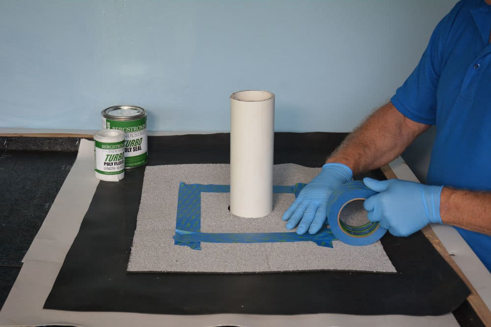 Turbo Poly Seal - prepare surface where repairts needed