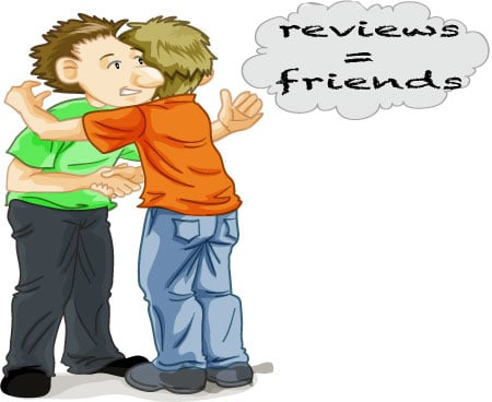 writing a review creates friends