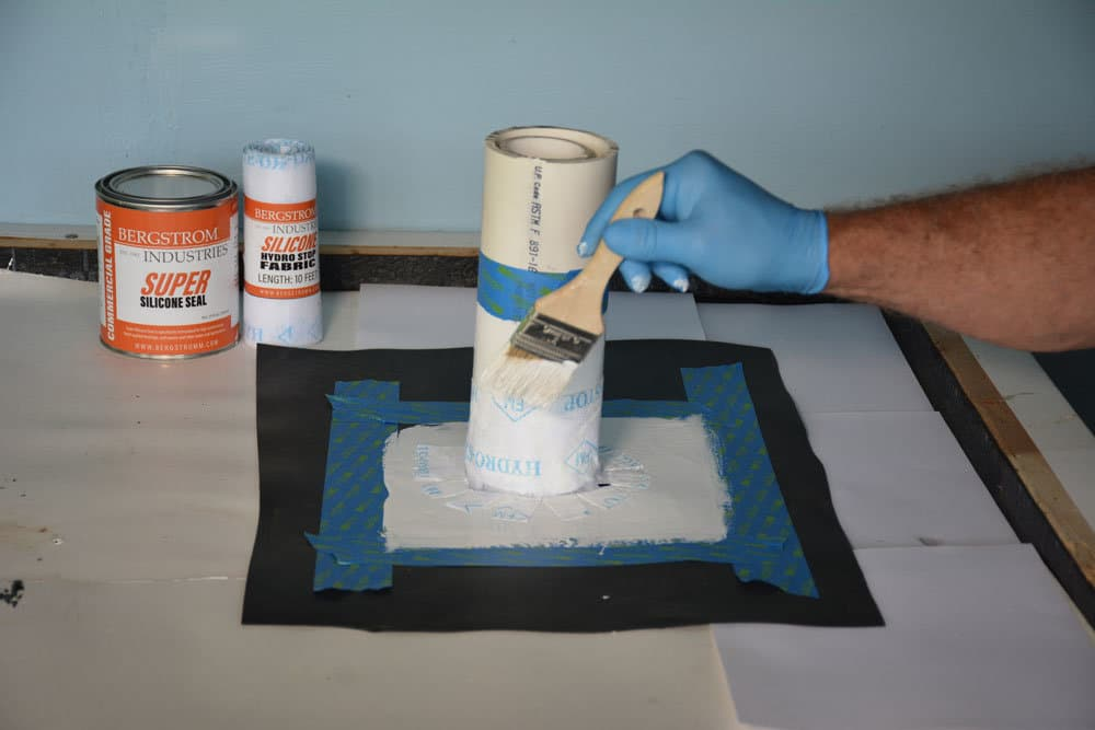 This is what it looks like after applying the Super Silicone Seal