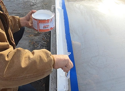 Super Silicone Seal used to repair a skylight leak